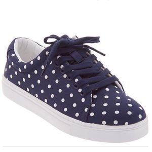 Isaac Mizrahi Live! Lace-Up Polka Dot Sneakers